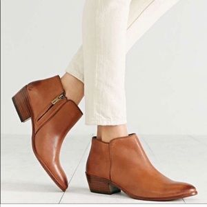 Sam Edelman Petty brown leather ankle boots 10.5